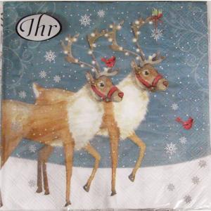ペーパーナプキン[メール便OK]ランチサイズ クリスマスレインディア クリスマス[IHR]ドイツ 紙ナプキン・ペーパーナプキン