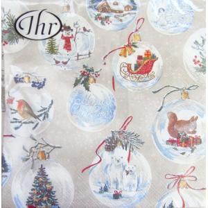 ペーパーナプキン ランチサイズ 20枚入り WINTERLY CHRISTMAS TIME  クリスマス[IHR]ドイツ 紙ナプキン・ペーパーナプキン・デコパージュ