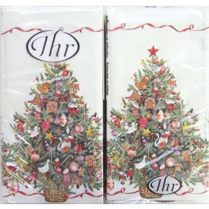 ペーパーナプキン[メール便OK][ハンキー]クリスマス ツリー [Ihr]ドイツ製ペーパーナフキン・紙ナプキン・クリスマス