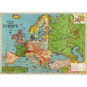 Cavallini&Co 包装紙 1708 ラッピングペーパー ユーロマップ3 ポスター輸入包装紙ス...