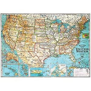 Cavallini&Co 包装紙 1711 ラッピングペーパー USAマップ ポスター輸入包装紙スク...