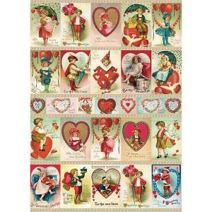 数量限定 輸入包装紙 ヴィンテージバレンタインラッピングペーパー&ポスター バレンタイン ハート柄[Cavallini ]輸入包装紙・ポスタースクラップブッキング|kaderia
