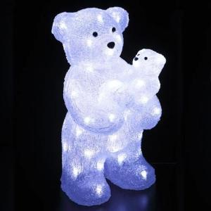 LEDライト クリスタルモチーフペアベア[友愛玩具]イルミネーション・デコレーション・LED|kaderia