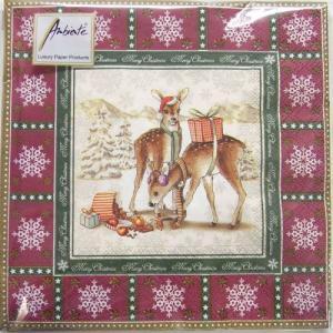 ペーパーナプキン[メール便OK] バンビのクリスマス 10枚入り[Ambiente]クリスマス紙ナプキン