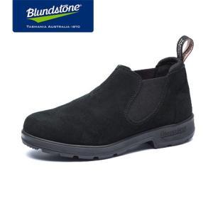 Blundstone ブランドストーン BS1605 Black ブラック スエード ローカット サイドゴアブーツ BS1605009|kadotation