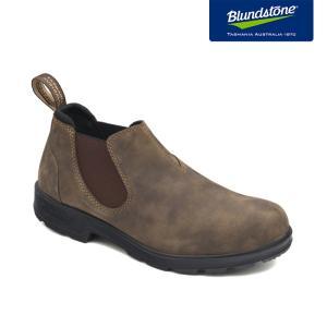 Blundstone ブランドストーン BS2036 Rustic Brown ラスティックブラウン ヌバック ローカット サイドゴアブーツ BS2036267|kadotation