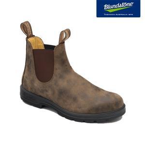 Blundstone ブランドストーン BS585 Rustic Brown ラスティックブラウン ヌバック サイドゴアブーツ BS585267|kadotation