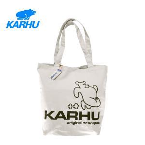 KARHU カルフ TRAMPAS BEAR TOTEBAG トランパス ベア トートバッグ Lily White/Black リリーホワイト/ブラック KA0151 001|kadotation
