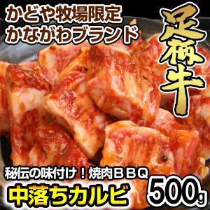 足柄牛中落ちカルビ焼肉用500g|kadoyabokujou
