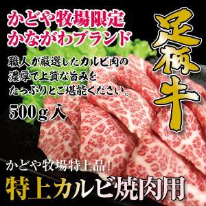 足柄牛特上カルビ焼肉用500g|kadoyabokujou