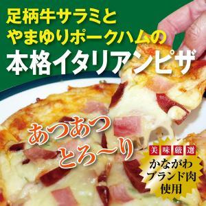 ピザ 足柄牛サラミとやまゆりポークハムの本格イタリアンピザ 国産 kadoyabokujou