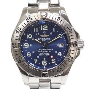 BREITLING ブライトリング メンズ腕時計 スーパーオーシャン クロノメーター A17360 ブルー文字盤 OH済【中古】 kadusaya78