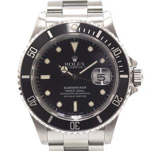 ROLEX ロレックス メンズ腕時計 サブマリーナ 16610 ブラック(黒)文字盤 L番(1989年製) OH済【中古】|kadusaya78