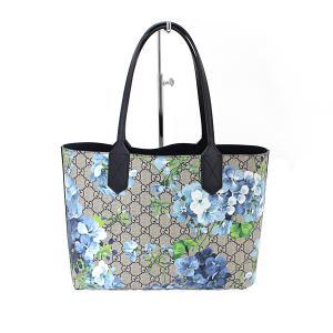 グッチ GUCCI GGブルームス リバーシブル トートバッグ 372613 花柄 ブルー ネームタグなし 未使用品|kadusaya78