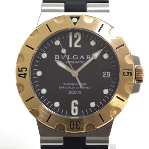 BVLGARI ブルガリ メンズ腕時計 ディアゴノスクーバ SD38SG ブラック(黒)文字盤 自動巻き【中古】|kadusaya78