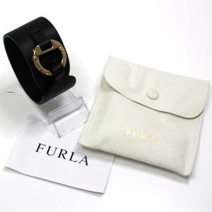 フルラ FURLA ブレスレット アクセサリー 983951 レザー ブラック(黒) アウトレット品 未使用品|kadusaya78