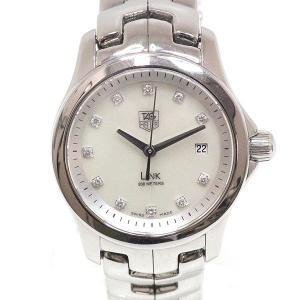 Tag Heuer タグ・ホイヤー レディースクォーツ腕時計 リンク WJK1317 シェル文字盤 11Pダイヤ【中古】|kadusaya78