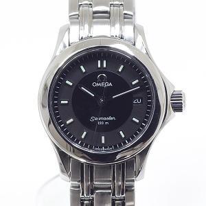 [オメガ]OMEGA レディース腕時計 シーマスター120 ブラック文字盤 新品仕上げ済【中古】|kadusaya78