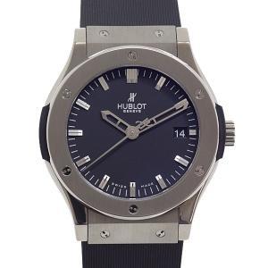 ウブロ HUBLOT メンズ腕時計 クラシックフュージョン ジルコニウム 511.ZX.1170.RX ブラック(黒)文字盤 中古 kadusaya78