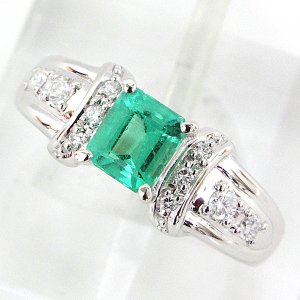 TASAKI 田崎 エメラルド ダイヤリング #11 指輪 プラチナ 仕上げ済み  5月誕生石 中古|kadusaya78
