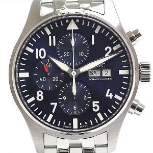IWC メンズ腕時計 パイロットウォッチ・クロノグラフ プティ・プランス IW377717 ブルー(...