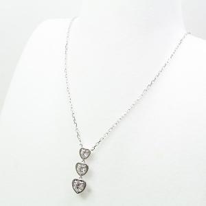 カルティエ Cartier ディアマン レジェ ドゥ ハート ネックレス K18WG/ダイヤモンド B7059200 750WG 仕上げ済 中古|kadusaya78