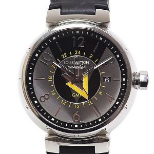 LOUIS VUITTON ルイヴィトン メンズ腕時計 タンブール VVVオートマティックGMT Q1D31 グレー&ブラック文字盤【中古】 kadusaya78