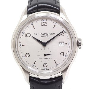 ボーム&メルシエ メンズ腕時計 クリフトン 65717/M0A10052 シルバー文字盤 自動巻き【...