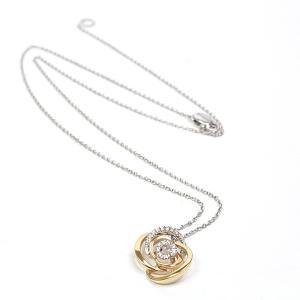 ダミアーニ DAMIANI ロゼ ネックレス K18PG/WG/ダイヤモンド 52/43cm 750PG/WG ピンクゴールド ホワイトゴールド 薔薇 花 仕上げ済 中古|kadusaya78