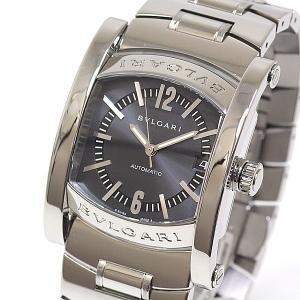 BVLGARI ブルガリ メンズ腕時計 アショーマ AA44S ネイビー文字盤 自動巻き【中古】