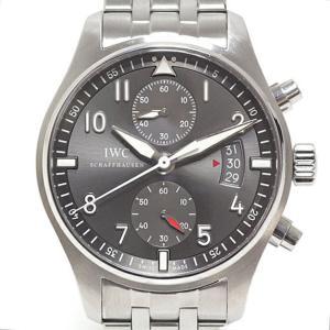 IWC メンズ腕時計 パイロットウォッチ スピットファイア クロノグラフ IW387804 グレー文字盤【中古】|kadusaya78