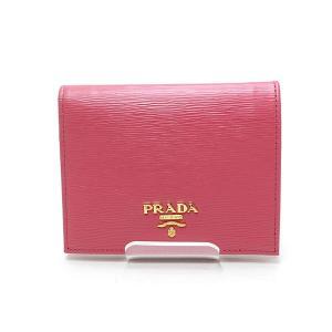PRADA プラダ コンパクトウォレット 二つ折り財布 1MV204 VITELLO MOVE(レザー) ペオニア(ピンク系)未使用品 kadusaya78