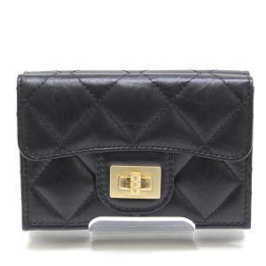 CHANEL シャネル 2.55 ダブルホック 三つ折り財布 A70325 ブラック(黒)29番台(2020年製)未使用品|kadusaya78