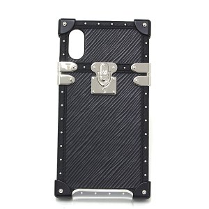 ルイヴィトン LOUIS VUITTON アイ・トランク ライト iPhone X & XS ノワール エピ・レザー/カーフ 黒 ブラック/シルバー M67895 アイフォンケース 新品同様|kadusaya78