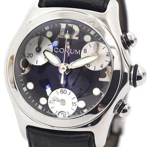 CORUM コルム ボーイズ腕時計 バブル クロノグラフ 196.250.20 ブラック(黒)文字盤 クォーツ【中古】 kadusaya78