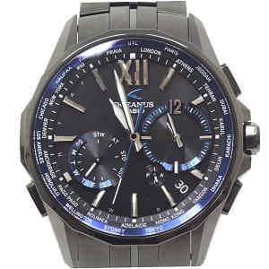 CASIO カシオ メンズ腕時計 オシアナスマンタ OCW-S3400B-1AJF ブラック(黒)文字盤 ソーラー電波時計【中古】 kadusaya78