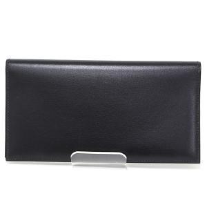 エルメス HERMES オオサカ 長財布 ボックスカーフ ブラック 黒 □E刻印(2001年製) 札入れ 二つ折り長財布 新品同様|kadusaya78
