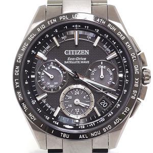 CITIZEN シチズン メンズ腕時計 アテッサ エコ・ドライブ GPS衛星電波時計 ダイレクトフライト CC9015-54E ブラック(黒)文字盤【中古】 kadusaya78