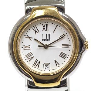 dunhill ダンヒル メンズ腕時計 ミレニアム クォーツ腕時計 8001 SS×GP ホワイト(白)文字盤【中古】 kadusaya78
