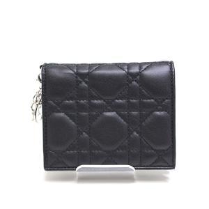 Christian Dior クリスチャンディオール レディディオール カナージュ ミニ ウォレット ブラック(黒)未使用品|kadusaya78