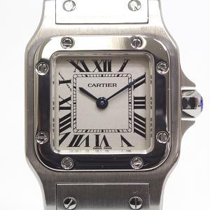 CARTIER カルティエ レディース腕時計 サントスガルベSM W20056D6 シルバー文字盤 クォーツ【中古】|kadusaya78