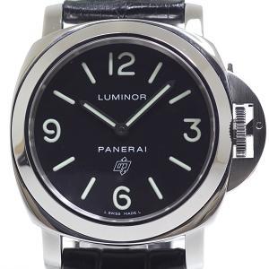 PANERAI パネライ メンズ腕時計 ルミノール ベースロゴ PAM00000 J番(2007年製) ブラック(黒)文字盤 手巻き【中古】 kadusaya78