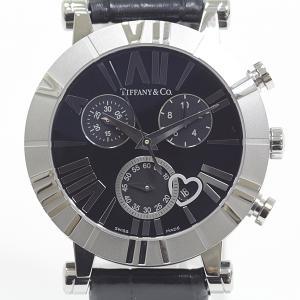 Tiffany&Co. ティファニー レディース腕時計 アトラス クロノグラフ Z1301.32.11A10A71A ブラック(黒)文字盤 クォーツ【中古】|kadusaya78