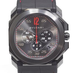 BVLGARI ブルガリ メンズ腕時計 オクト ヴェロチッシモ KEN OKUYAMAリミテッド BGO41SCH 世界200本限定モデル ブラック(黒)文字盤【中古】|kadusaya78