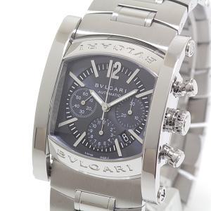 BVLGARI ブルガリ メンズ腕時計 アショーマクロノグラフ AA44SCH ネイビー文字盤 自動巻き【中古】|kadusaya78