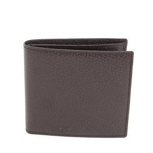 ブルガリ BVLGARI 二つ折り財布 ブラウン ピッグスキン 22557 メンズ 小銭入れあり 未使用品|kadusaya78