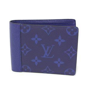 ルイヴィトン LOUIS VUITTON ポルトフォイユ・ミュルティプル タイガラマ コバルト モノグラム・キャンバス M30299 2つ折り財布 札入れ 小銭入れなし 未使用品|kadusaya78
