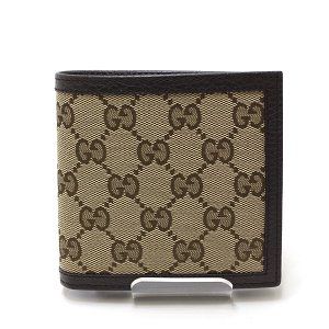 GUCCI グッチ アウトレット GGキャンバス 二つ折り財布 150413 ベージュ 未使用品|kadusaya78