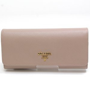 PRADA プラダ 二つ折り長財布 パスケース付き 1M1349 SAFFIANO METAL(カーフレザー)CAMMEO(ピンクベージュ)未使用品|kadusaya78