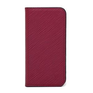 ルイ・ヴィトン Louis Vuitton IPHONE X & XS・フォリオ M64468 エピ フューシャ(ワインレッド) 【中古】Aランク|kadusaya78